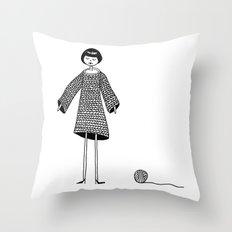 Knitting, gone awry. Throw Pillow