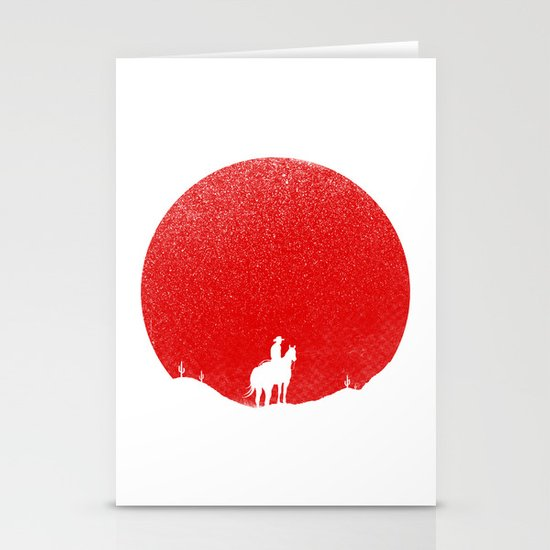 The Rising Sunset Stationery Card