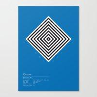 Hambourg geometric logo Canvas Print