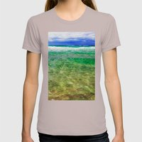 Green Sea, Blue Sky Womens Fitted Tee Cinder SMALL