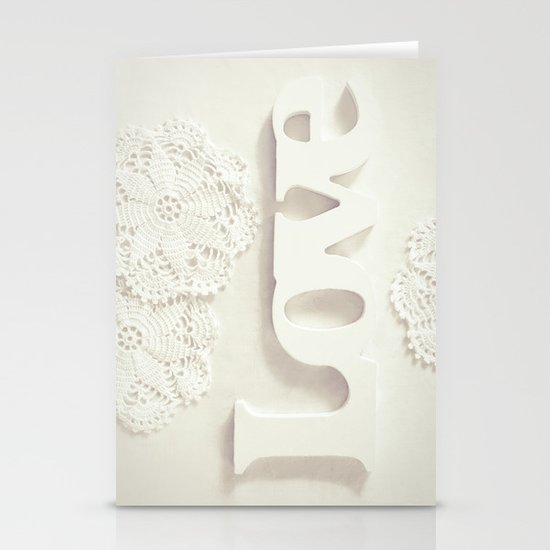 Love & Doilies Stationery Card