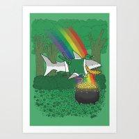 The Lucky Shark Art Print