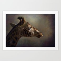 Portrait Of A Giraffe Art Print