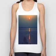 Relax At Sunset Unisex Tank Top