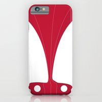 iPhone & iPod Case featuring Silhouette Racers - Mazda MX5 in Red by Salmanorguk