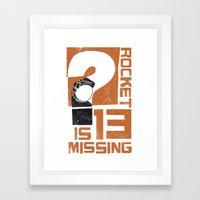 Rocket 13 Is Missing Framed Art Print