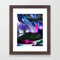 Rainbow hills Framed Art Print