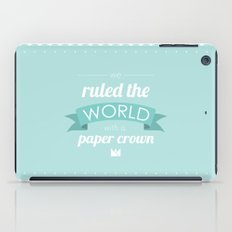 Paper Crown iPad Case