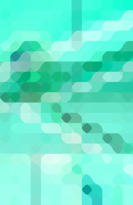 colorful+mintgreen Art Print
