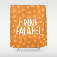 I Vote Falafel Shower Curtain