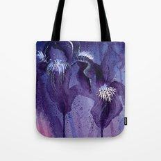 Iris, Blue and Purple Tote Bag