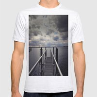 Long Walk Short Pier Mens Fitted Tee Ash Grey SMALL