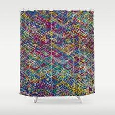 Cuben Network 1 Shower Curtain