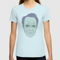 Clint Eastwood Womens Fitted Tee Light Blue SMALL