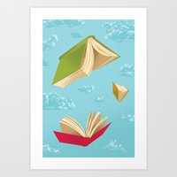 Falling Leaves Art Print