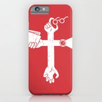 iPhone & iPod Case featuring Sign of the Cross by Pencil Bandit
