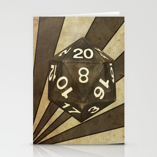 D20 Stationery Card
