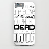 iPhone & iPod Case featuring You Are Alive At This Moment by One Curious Chip