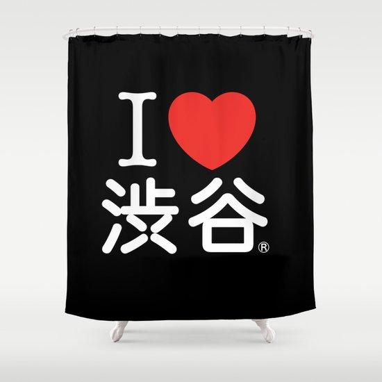 I ♥ Shibuya Shower Curtain