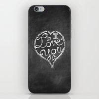 I Love You Chalkboard iPhone & iPod Skin