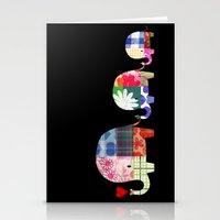 Patchwork Elephants - Love Stationery Cards