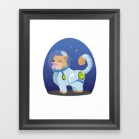 Corgis In Space Framed Art Print