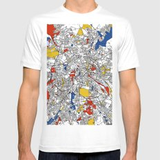 Berlin  SMALL Mens Fitted Tee White