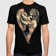 Heart SMALL Mens Fitted Tee Black