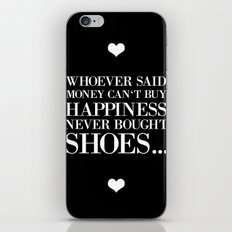 happiness black iPhone & iPod Skin