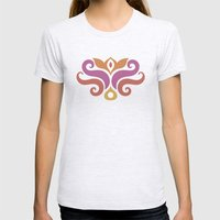 Spiced Swirls [Royal] Womens Fitted Tee Ash Grey SMALL