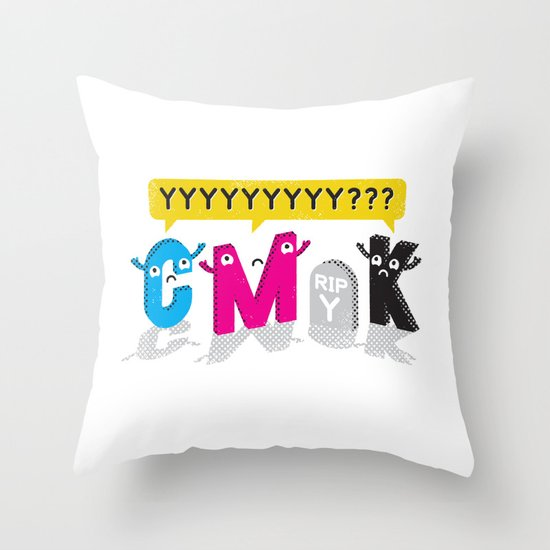 Four Colors and a Funeral Throw Pillow