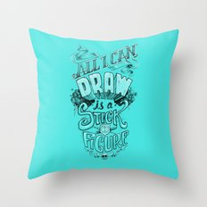All I Can Draw Throw Pillow