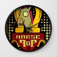 Horse Pop Wall Clock