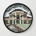 House With Tulips Wall Clock