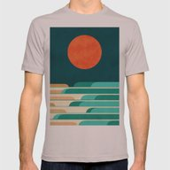 Chasing Wave Under The R… Mens Fitted Tee Cinder SMALL