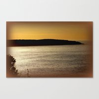 Sunsetting At Portland Canvas Print