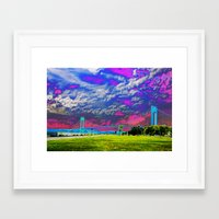 Verrazano Bridge  Framed Art Print
