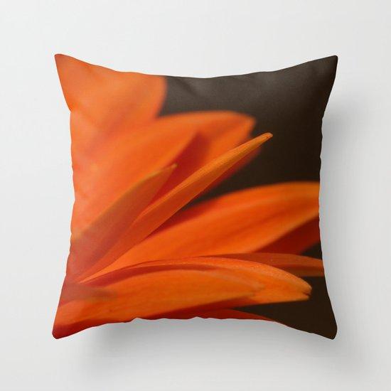 Orange Petals Throw Pillow