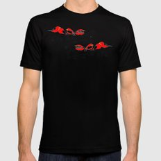 Birds Mens Fitted Tee Black SMALL