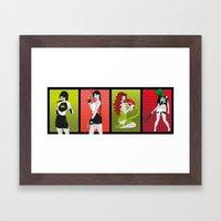 Les Geekettes Framed Art Print