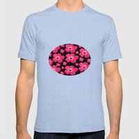 Hibiscus   Mens Fitted Tee Tri-Blue SMALL