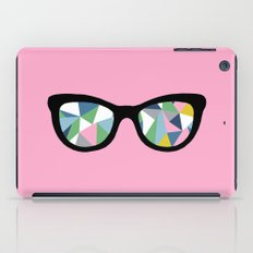 Abstract Eyes on Pink iPad Case
