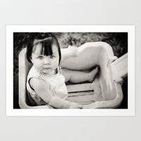 Baby In Wagon Art Print