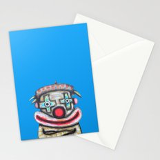 Clown with small advertisement Stationery Cards