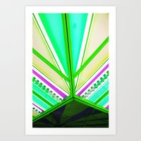 Linear colour  Art Print