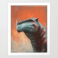 Rhino Rex Art Print