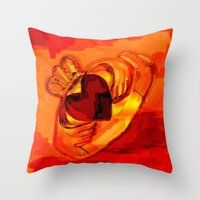 The Claddagh Ring  Throw Pillow