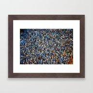 Blue Pebble Texture Framed Art Print