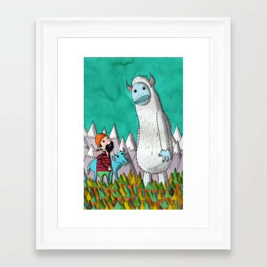 Paul Bunyan About To Get His Ass Handed To Him..... Framed Art Print