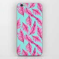 Fuchsia Leaves iPhone & iPod Skin